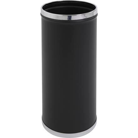 Paraplyholder rund sort og krom | metal med inderspand i plast