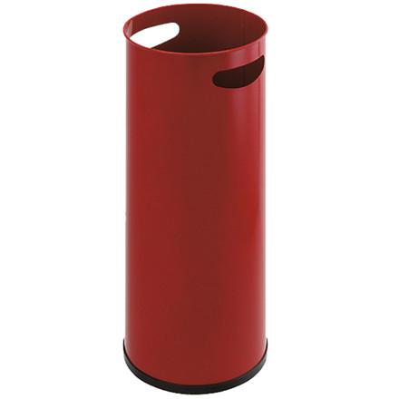 Paraplystativ rød metal med håndgreb