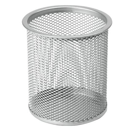 Penneholder tråd metal sølv - 9 x 10 cm