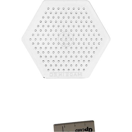 Perleplade , H: 7,5 cm, transparent, lille sekskant, 1stk.