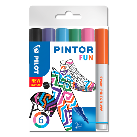 Pilot Marker Pintor Fine Fun Mix 1,0 ass (6)