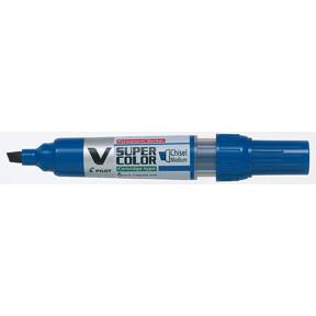 Pilot Marker V-super Color - Blå skrå spids 1,4 - 5 mm