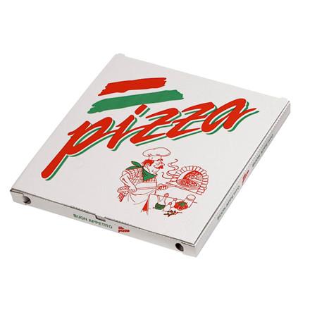 Pizzaæske 40 x 40 x 3 cm neutralt tryk - 100 stk.