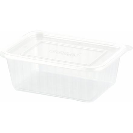 Plastbakke Fixpack firkantet PP klar 500 ml - 500 stk