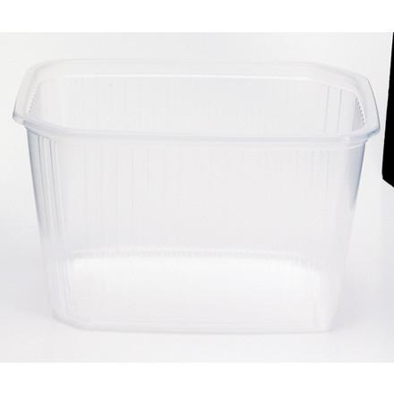 Plastbakke Fixpack firkantet PP klar 750 ml - 500 stk.