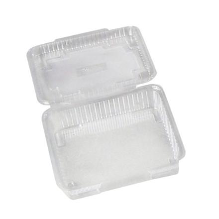 Plastbakke med hængslet låg OPS 1100 ml kageæske - 250 stk