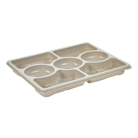 Plastbakke Selection platte Zen 7 rum hvid 320x250x33mm 120stk/pak