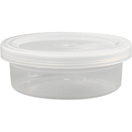 Plastbøtte med låg, H: 24 mm, dia. 68 mm, 20stk., 45 ml