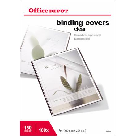 Plastforsider - Office Depot klar A4 150 mic - 100 stk