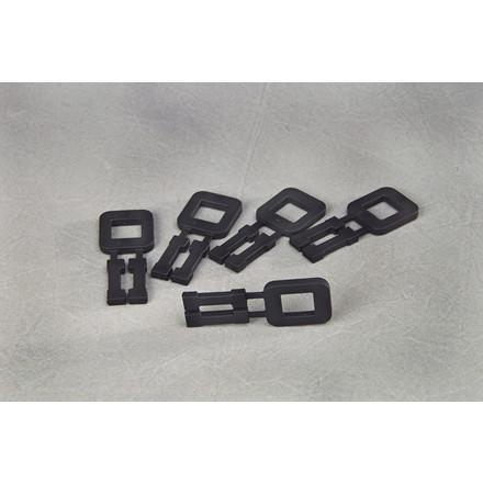 Plasthåndspænder sort til 16mm bånd 1000stk/kar