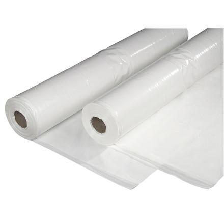 Plastik PE hvid 2x50mx0,15mm UV-b 13,8kg foldet 1 gang