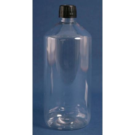 Plastikflaske PET klar 1000 ml med låg bestrålet - 60 stk.