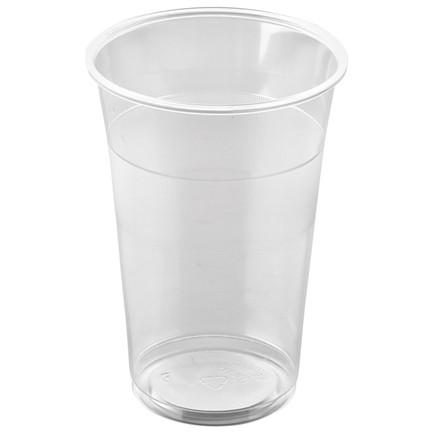 Plastikglas blød 30 cl PP - total 40 cl. - 50 stk.