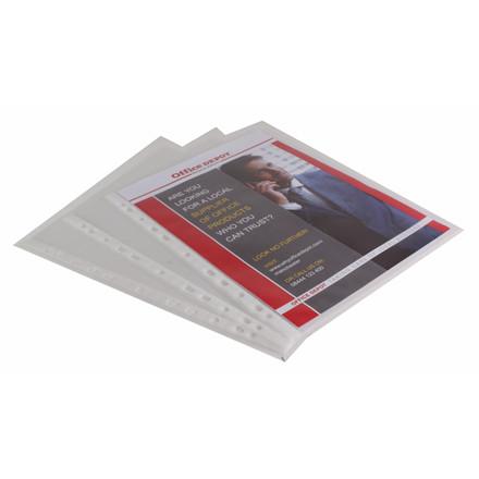 Plastiklommer A4 - Office Depot 95 my med præget overflade - 25 stk i pakke