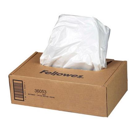 Plastiksække til makulering Fellowes 148l 50stk/pak