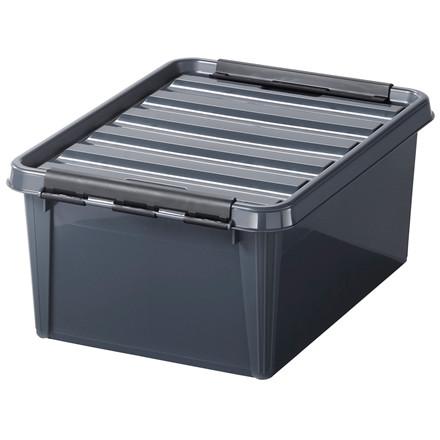 Plastkasse - Smart Store i grå 40 x 30 x 19 cm