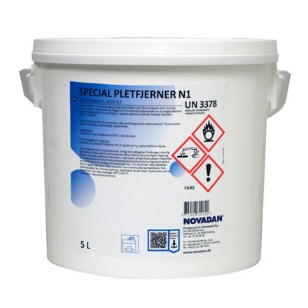 Pletfjerner, Novadan N1, pulver, special blegemiddel med ilt, 5 l