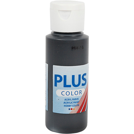 Plus Color hobbymaling black - 60 ml