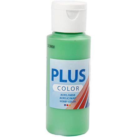 Plus Color hobbymaling, bright green, 60ml