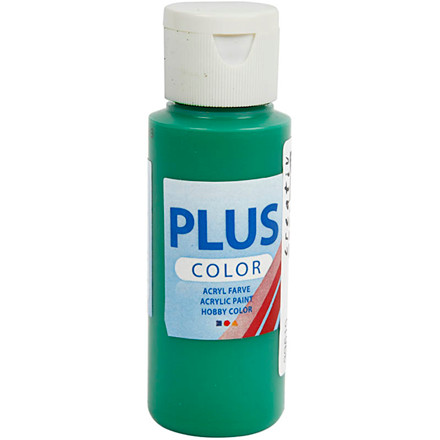 Plus Color hobbymaling, brilliant green, 60ml
