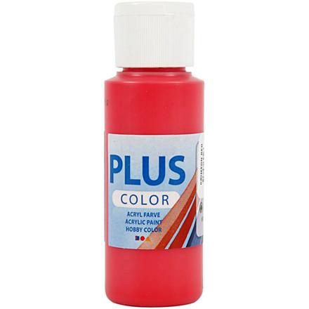 Plus Color hobbymaling, crimson red, 60ml