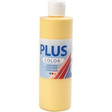 Plus Color hobbymaling, crocus yellow, 250ml