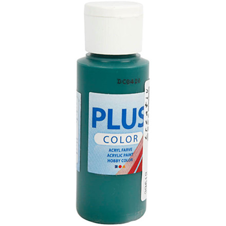 Plus Color hobbymaling, dark green, 60ml