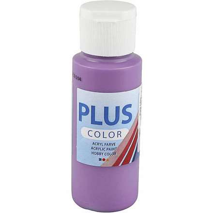 Plus Color hobbymaling, dark lilac, 60ml