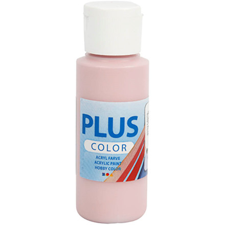 Plus Color hobbymaling, dusty rose, 60ml