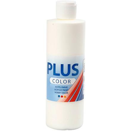 Plus Color hobbymaling, off white, 250ml