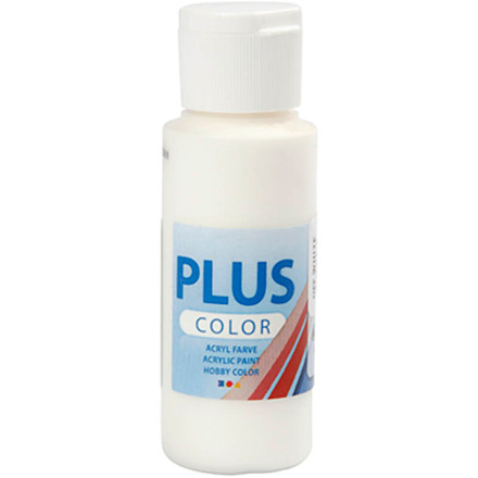 Plus Color hobbymaling, off white, 60ml