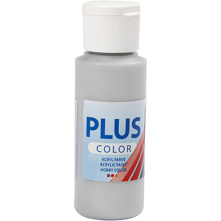 Plus Color hobbymaling, silver, 60ml
