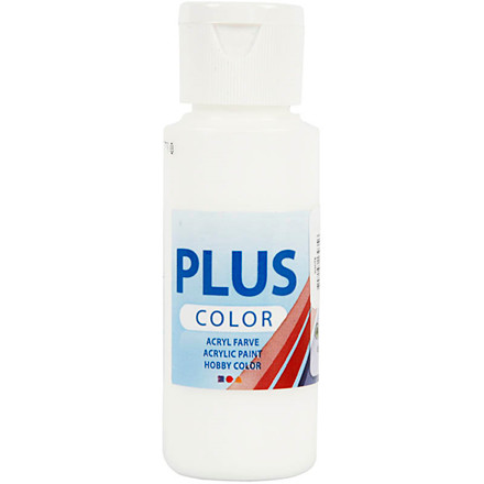 Plus Color hobbymaling white - 60 ml