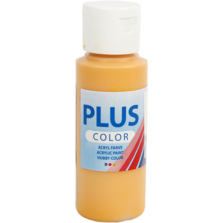 Plus Color hobbymaling, yellow ochre, 60ml