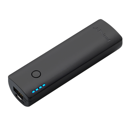 PNY PowerPack Curve 2600 - Sort Powerbank 2600 mAh