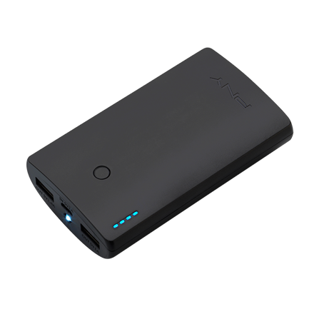 PNY PowerPack Curve 7800 - Sort Powerbank 7800 mAh