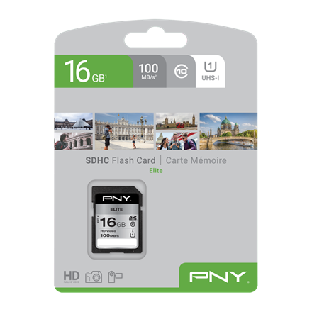 PNY SDHC High Elite 16GB Class 10