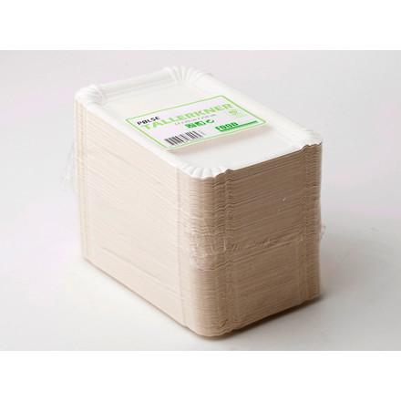 Pølsebakke hvid 130 x 200 mm - 250 stk. i pakningen