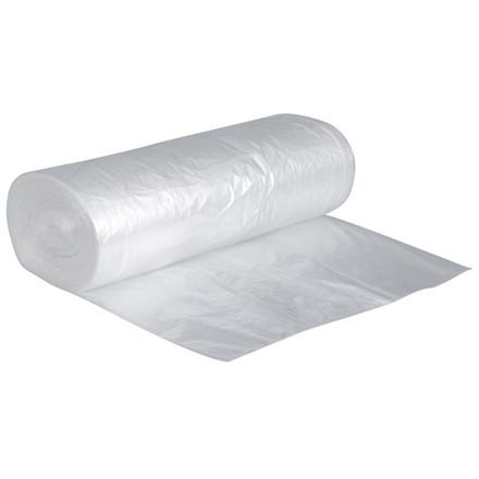 Pose, HDPE, transparent, foldet til 17 cm, uden tryk, 7 my, 65x70 cm, 50 l, 50stk/rl.