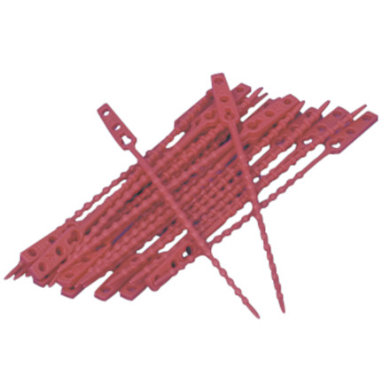 Poselukker, rød, LDPE, 18 cm
