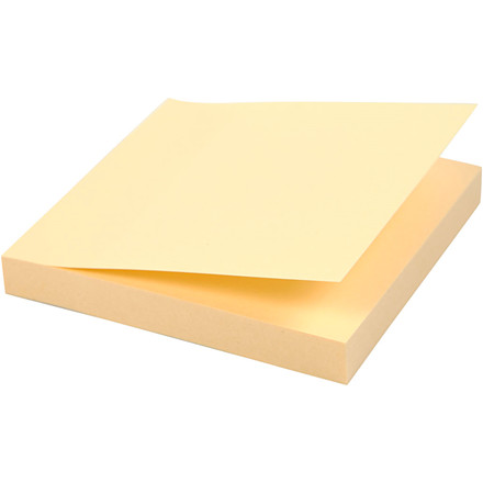 Post-it blok, 75x75 mm, 12 stk.