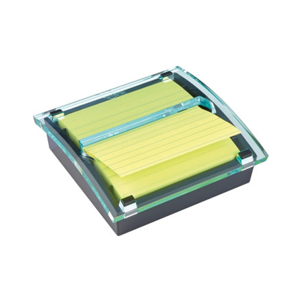 Post-it z-notedispenser stor sort inkl. 1stk lin. Super Sticky blok 101x101mm 1SS CY