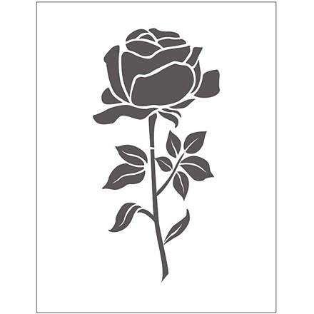 Prægeskabelon størrelse 11 x 14 cm tykkelse 2 mm | rose
