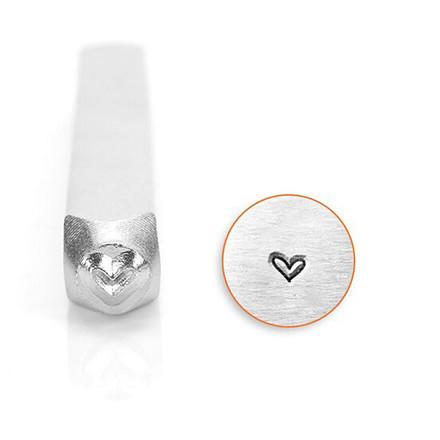 Prægestempel, str. 3 mm, L: 65 mm, Hjerte, 1stk.
