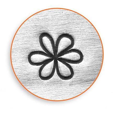 Prægestempel, str. 6 mm, L: 65 mm, Blomst, 1stk.