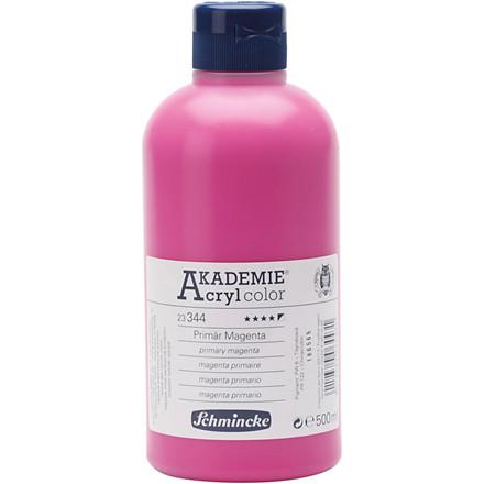 Primary magenta (344) Schmincke AKADEMIE® Acryl color, semi-opaque , good lightfastness , 500ml