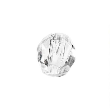 Prisme størrelse 8 mm hulstørrelse 1,2 mm blank transparent | 334 stk.