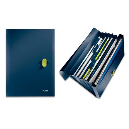 Leitz Recycle A4 harmonikamappe med 5 rum | Blå