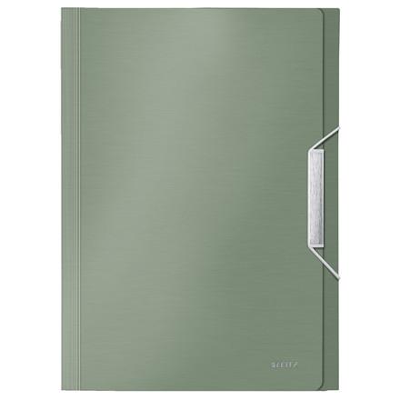 Leitz Style A4 harmonikamappe med 6 rum | Grøn