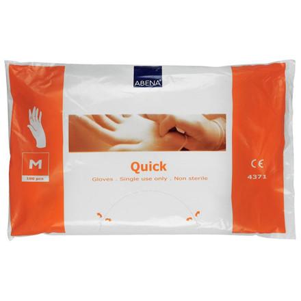 Quickhandsker - Klar LDPE Engangshandske Medium - Textureret på yderside